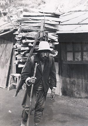 A firewood carrier - life in Chuncheon during the Korean War.