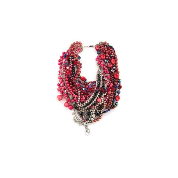 the Fashion Spot - Tom Binns - Jewelry Designer ❤ liked on Polyvore featuring jewelry, necklaces, pink, accessories, tom binns, tom binns jewelry, polka dot jewelry, pink jewelry and dot jewellery