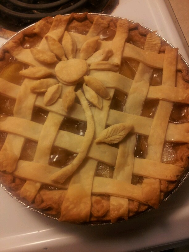 My spring apple pie.so yummy