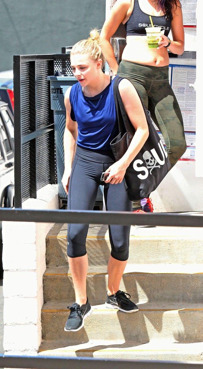 grace cameltoe Chloe Grace Moretz Leaving SoulCycle | Chloe-Moretz-Thong-Panties-Spandex-