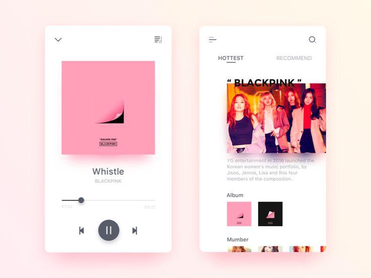 UI/UX Design - Music app