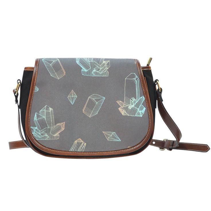 Saddle Bag - Abstract Crystals