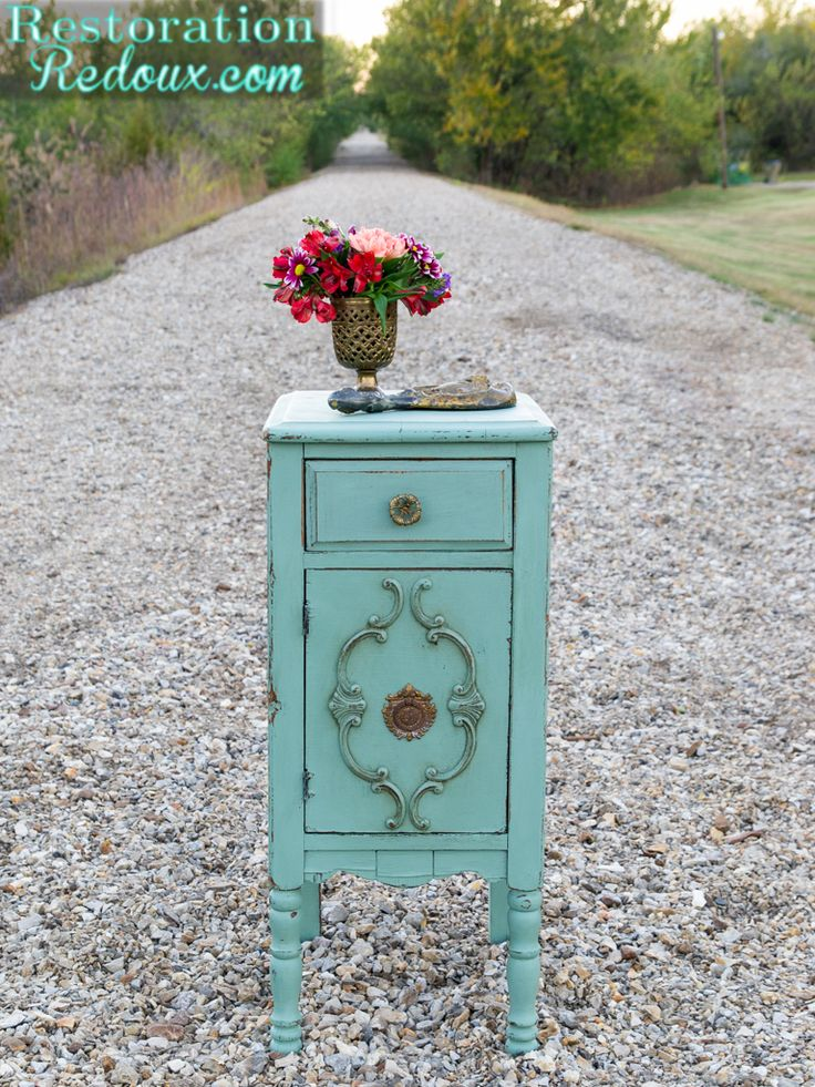 Milkpainted Antique Side Table