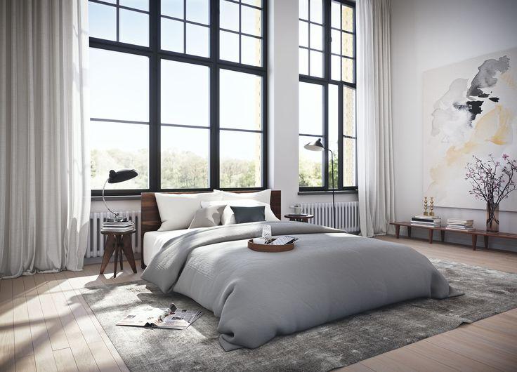 #oscarproperties - stockholm - window - bed - bedroom - windows - industry