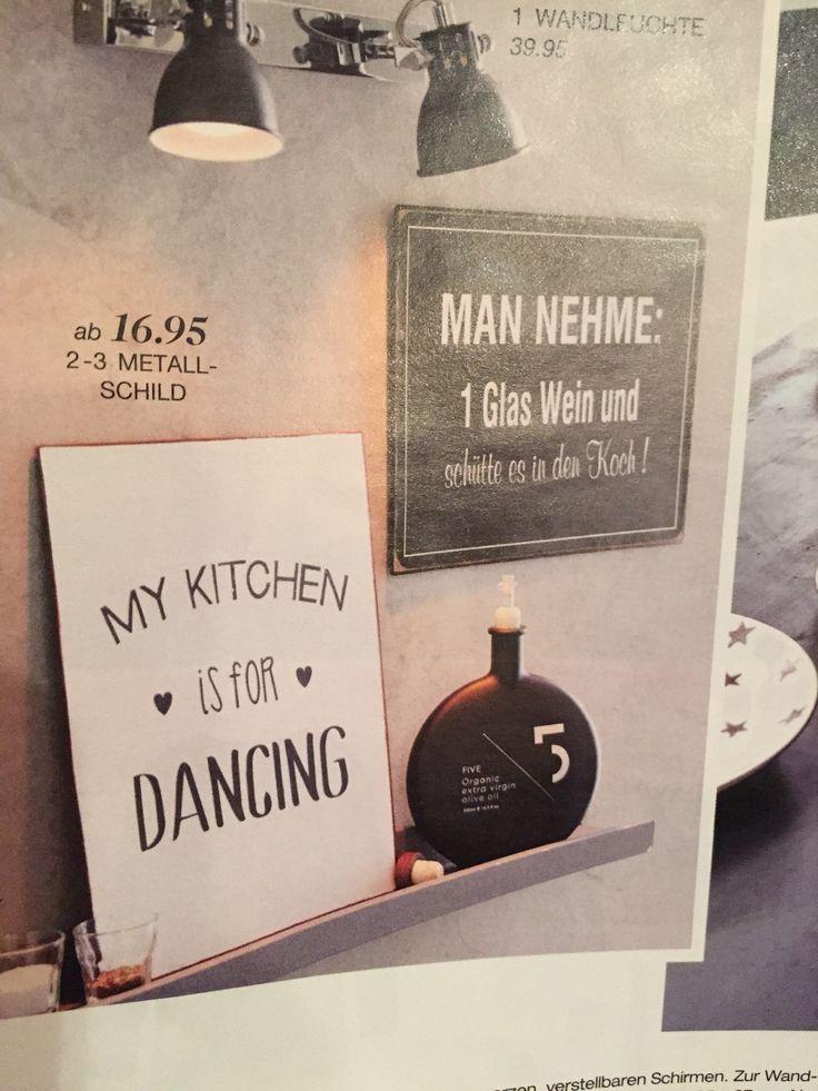 Lustiger Spruch für die Tafel in der Küche.