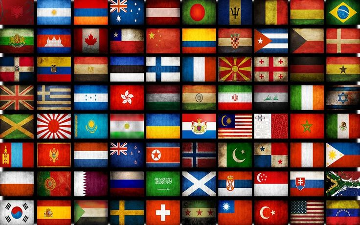 flags of the countries