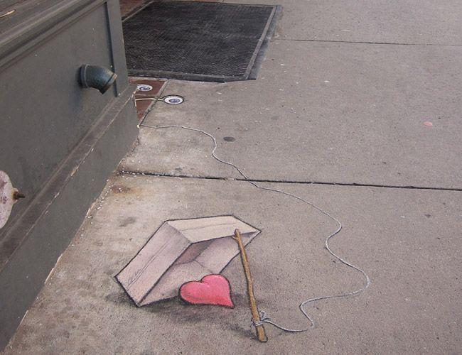 Best David Zinn Images On Pinterest David Zinn Street - David zinns 3d chalk art adorably creative
