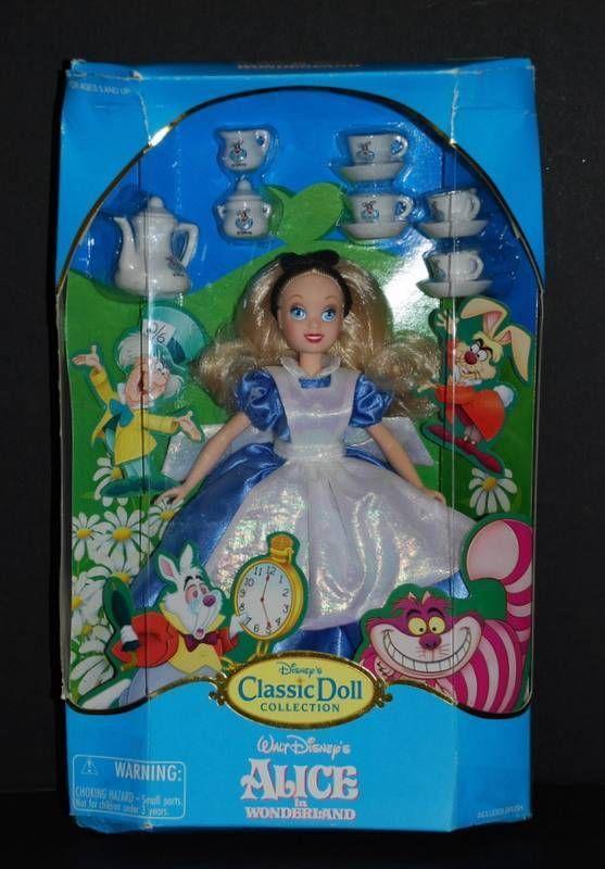 "Disney's Classic Doll Collection ""ALICE IN WONDERLAND"" Barbie & Tea Set NIB #Dolls"