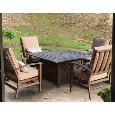 FOREMOST Casual   Cannes 5 Piece Outdoor Firepit Set   FC CANNES FPS