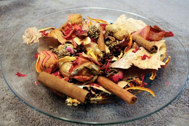 bricolage simple d'automne : pot-pourri