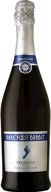 Barefoot of California is now offering its own version of prosecco - made and bottled in Italy. This is an extra dry sparkling wine, clean and crisp with a long, satisfying finish, this wine can easily brighten any meal and is a standout at backyard barbecues.