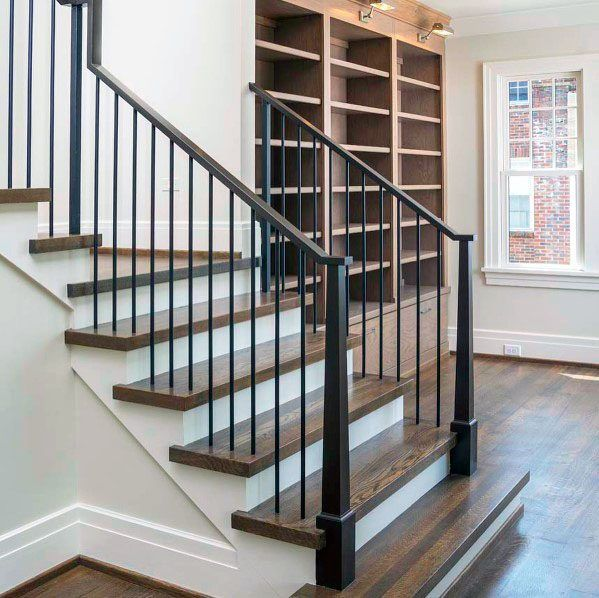 Top 70 Best Stair Railing Ideas Indoor Staircase Designs Stair   Best Wood For Indoor Stairs   Hardwood   Stair Parts   Stair Case   Glass   Red Oak