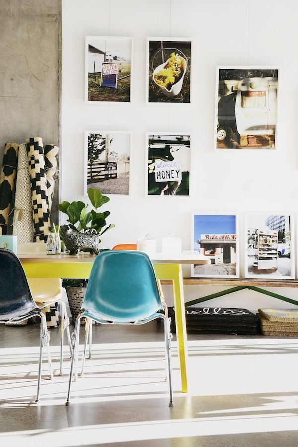 Inspiring Australian style direct from down under // wall art and colorful chairs: Dining Rooms, Interior Design, Inspiration, Color, Decorating Ideas, Interiors, Photo