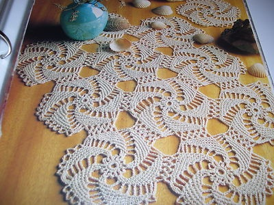 Multiwhirl Doily Filet Crochet Pattern |  love this for a sweater or jacket!
