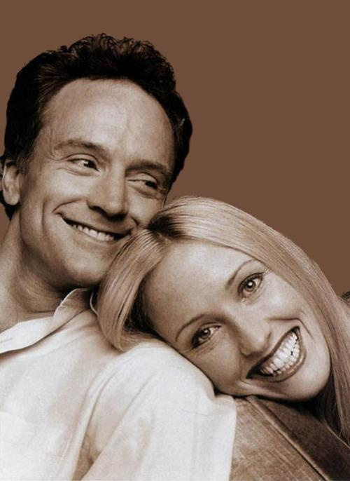 josh and donna from the west wing. surprisingly, they turned into one of my favorite tv couples.