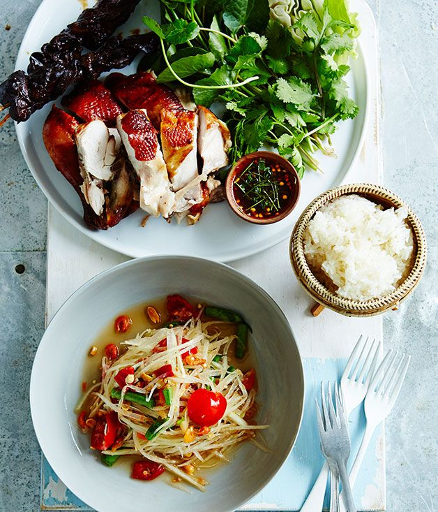 Australian Gourmet Traveller recipe for som dtum Thai by Amy Chanta from Chat Thai. Green mango salad