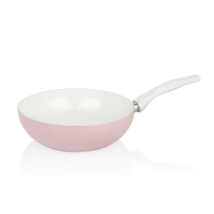 Bernardo Seramik Kaplama Wok #bernardo #cooking #kitchen #mutfak #pink #pembe