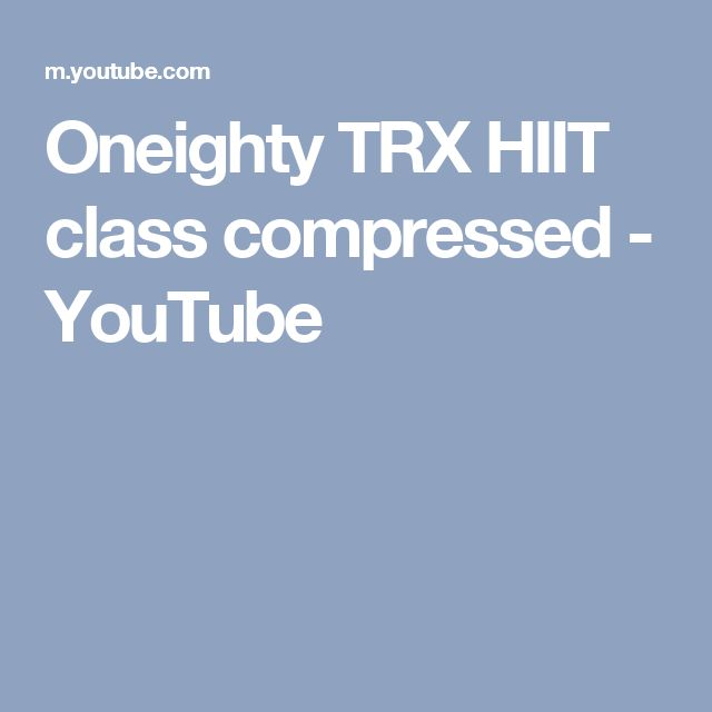Oneighty TRX HIIT class compressed - YouTube