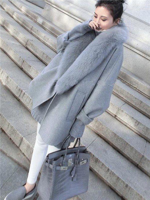 mde.tidebuy.com bietet hohe Qualität Große Pelzkragen Mode Damen Woll Mantel Wir haben mehr Arten für Mäntel