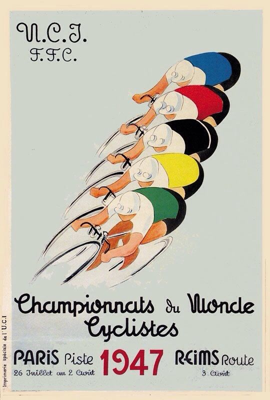 1947 UCI Track Cycling World Championships - Paris-Reims, France.                                                                                                                                                                                 More
