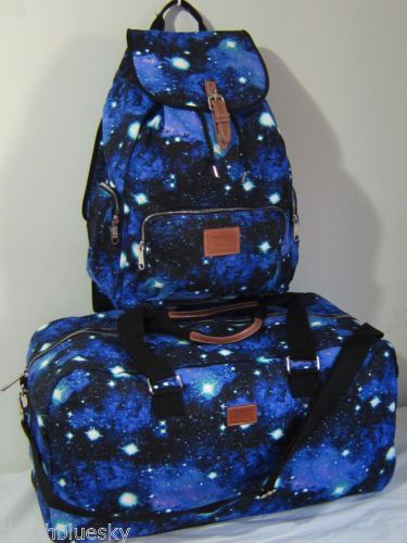 Lot Victoria Secret Pink Galaxy Celestial Cosmic Backpack Carry on Duffle Bag | eBay