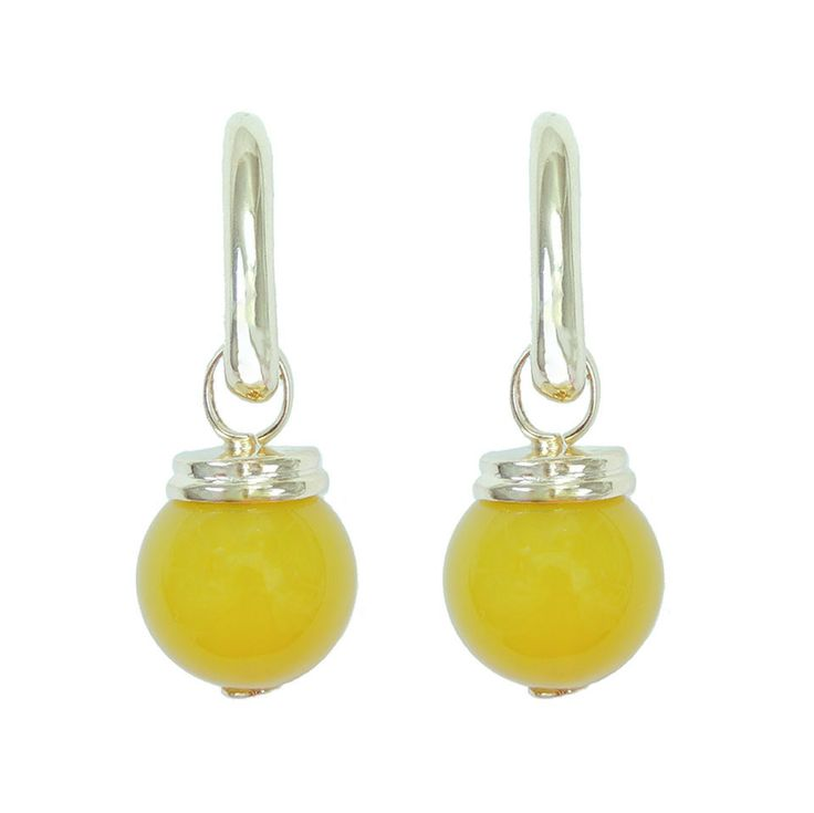 Yellow Agate Earrings - £32 http://www.almojewellery.com/yellow-agate-earrings/gemstone-jewellery/limited-edition-azure-sky-collection