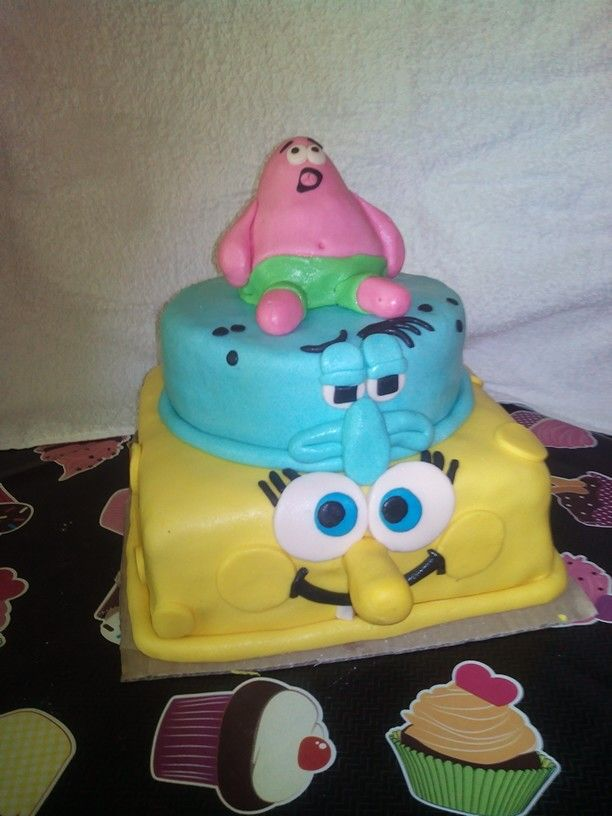 Spongebob and his friends cake