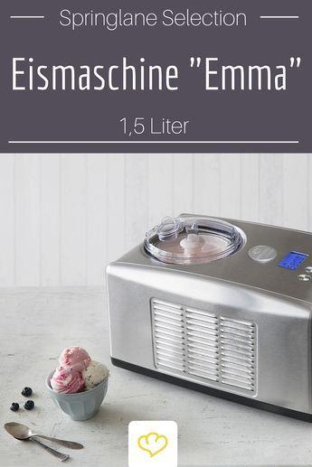 Vanille, Erdbeer oder Amaretto-Mohn – cremig-süßes Eis geht einfach immer. Das weiß auch die Eismaschine Emma mit Kompressor aus unserer Springlane Selection und kümmert sich zuverlässig um klassische und wilde Eiskreationen.