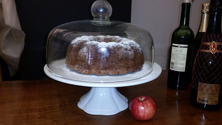 Apple spice cake with apples I hand-picked