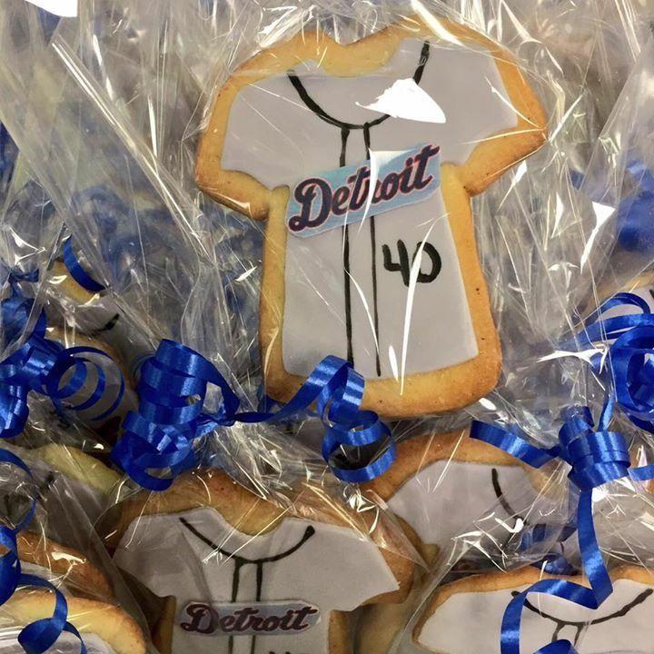 Detroit Tigers Custom Cookies #MLB #DvasCakes