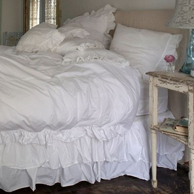 white bedding - Rachel Ashwell Shabby Chic Couture