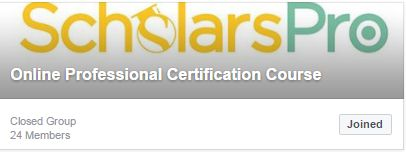 This is a closed group of ScholarsPro and anyone can join this group to get recent updates about our professional certification courses, upcoming Online free webinars, online certification training, etc. If you have any queries regarding the courses we offer or about the upcoming online free webinars, etc you can directly post your query in this group and the concerned person will be in touch with you. Visit our website www.scholarspro.com to find out the courses we offer. You can directly…