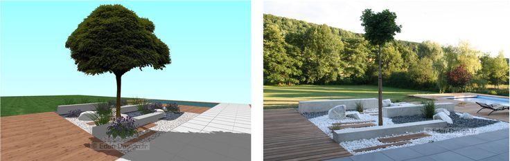 Avant  après : Images 3d et  aménagement extérieur réalisé.