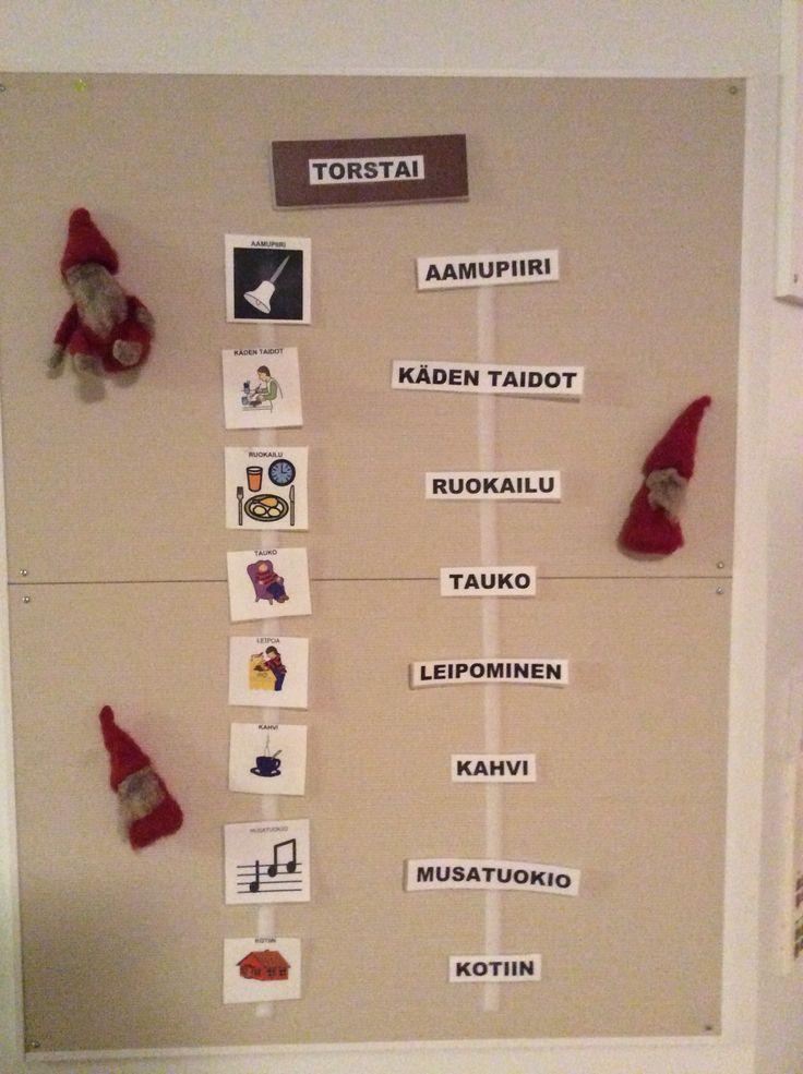 Erilaista päiväohjelmaa Joulun alla.