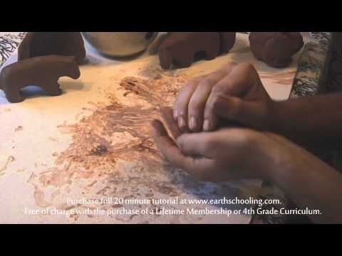 Working with Clay Waldorf Fourth Grade - YouTube