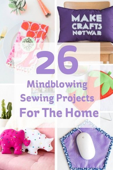 26 Mindblowing Sewing Projects for the Home #sewing #homesewing #sewingprojects