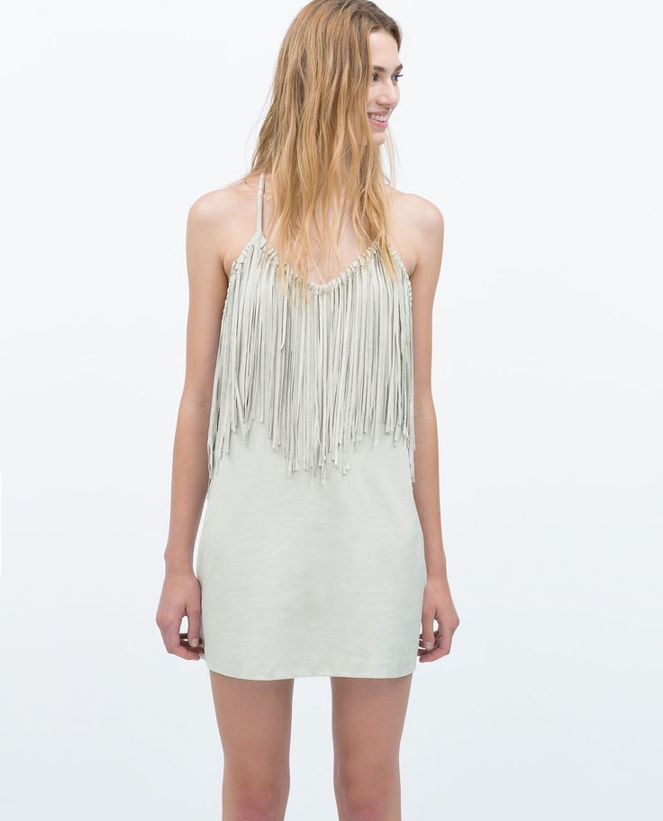 FAUX SUEDE DRESS WITH FRINGING-TRF-NEW THIS WEEK | ZARA United States