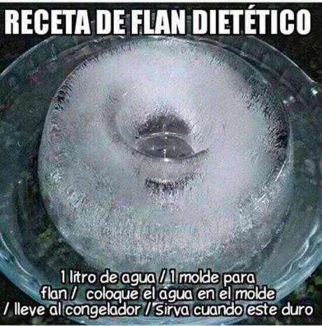 Flan para dieta fácil de hacer