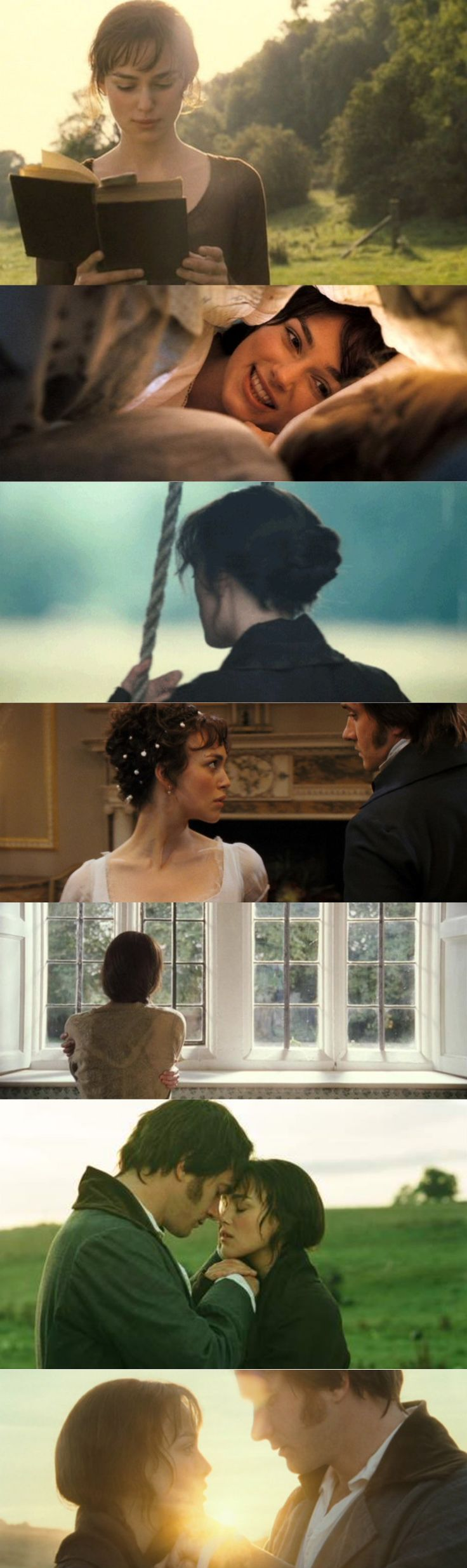 Pride and Prejudice (2005), d. Joe Wright, d.p. Roman Osin. Framing shots.