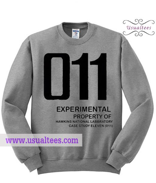 Stranger Things 011 Sweatshirt from usualtees.com This sweatshirt is Made To Order, one by one printed so we can control the quality.