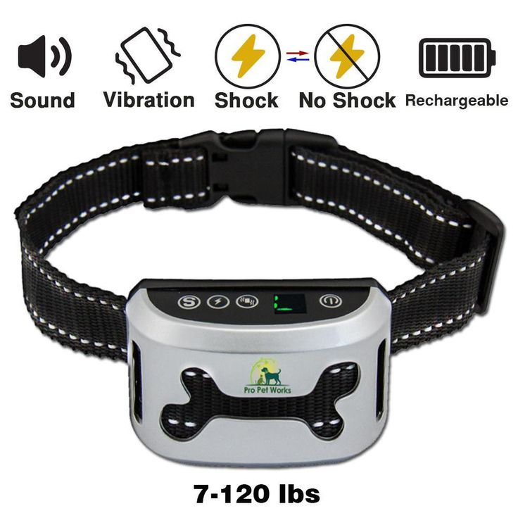 Bark Collar By Pro Pet Works [2018 SMART CHIP] Dog Bark Collar With VIBRATION And No Harm Static Shock-RECHARGEABLE Bark Control For Small Medium And Large Dogs-1 AMP USB ONLY (Model 772A)
