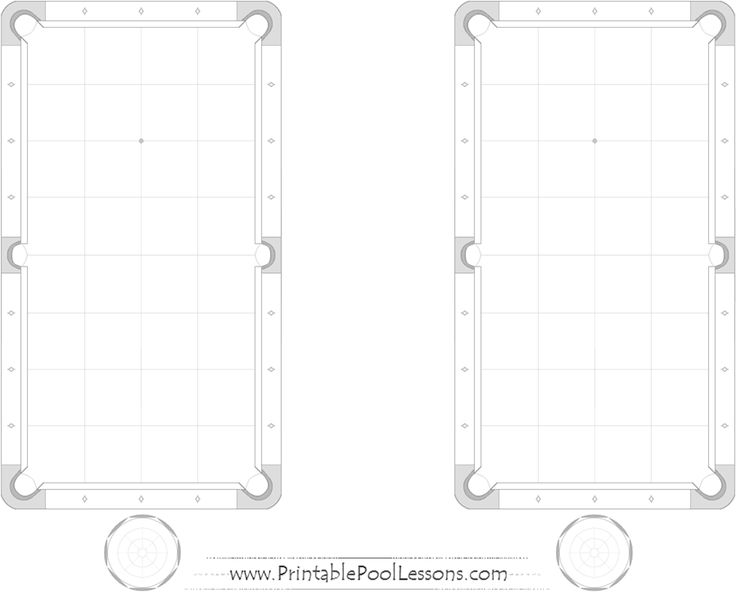 double printable pool table template pdf black & white ... pool table diagram template #2