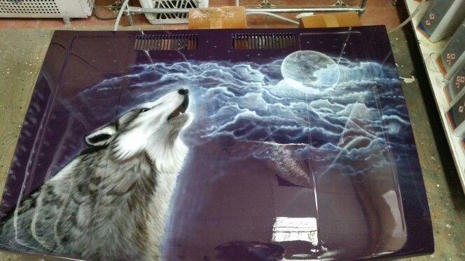 Готовая работа,воющий волк