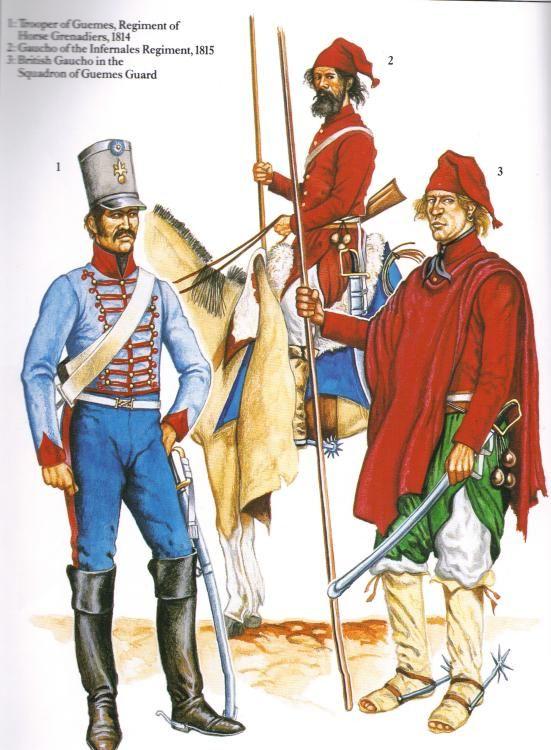 Militaria Federal (Uniformes y armas) - Infernales de Guemes