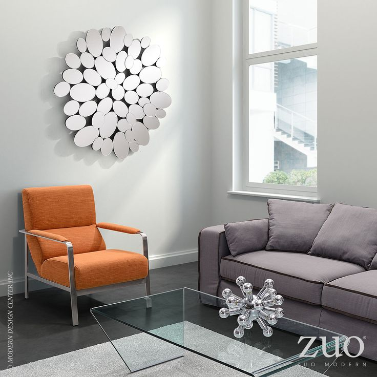 Like A Crystal Geode, The Tadpole Mirror Creates A Sense Of Wonder.  #zuomodern