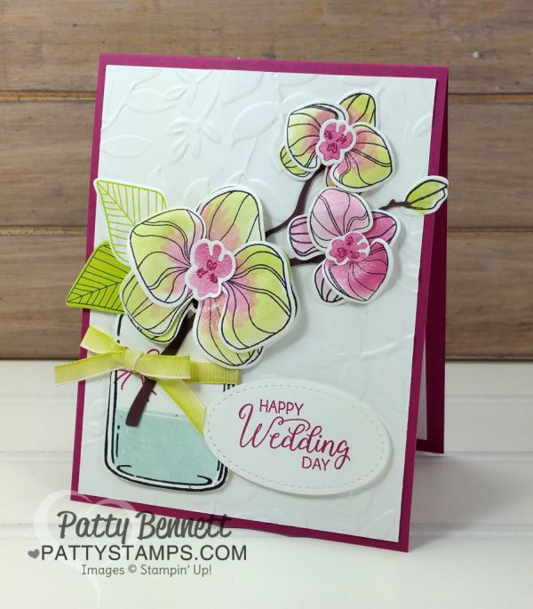 Wedding Card idea with Climbing Orchids