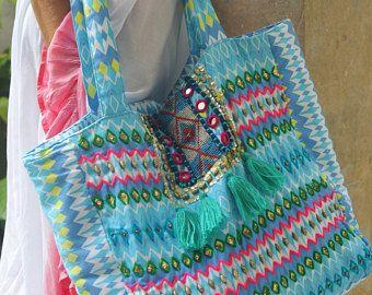 Moldeada a mano bolso / bolsos de totalizador de la playa o borlas bolsa de bolso de mano/de la Yoga bolsas de la moda boho * bolso de la playa de KERRY