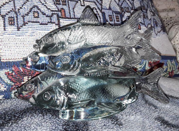 Sweden Kosta Reijmyre Paul Hoff Slominski glass figurine WWF animals fish 1985 y #Reijmyre #PaulHoff