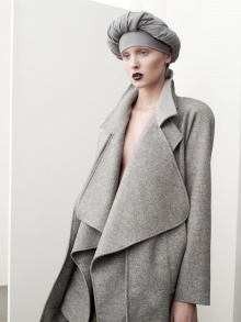 grey - awesome coat shame about the dodgy hat/turban