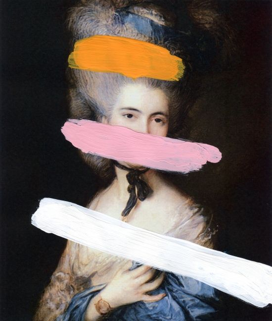 Brutalized Gainsborough 2 (2009) Portrait of a Lady in Blue, late 1770s by Gainsborough, Thomas